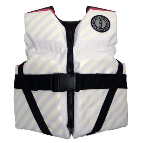 Mustang Lil' Legends 70 Youth Vest - 50-90lbs - Pink-White [MV3270-254]