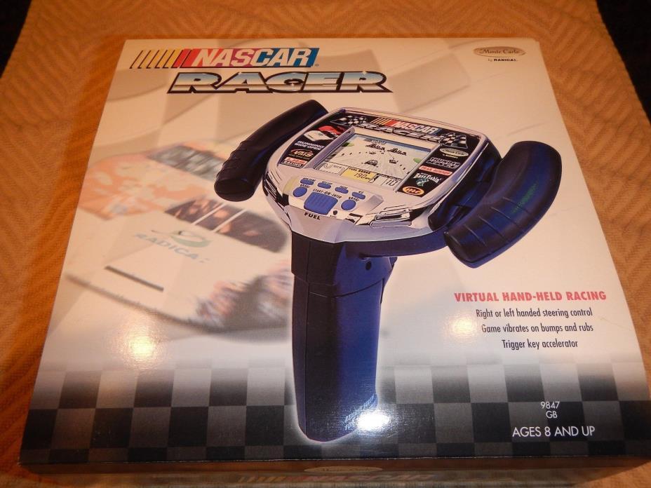Nascar Racer Radica Monte Carlo Electronic virtual hand held game - nib