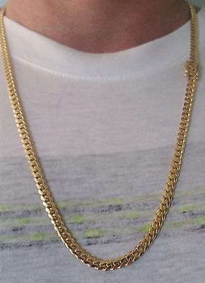 14K Miami Cuban Link Chain Solid Gold , 25