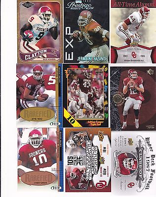 OKLAHOMA SOONERS  FOOTBALL INSERT & ROOKIE 30 CARD LOT ALL OU UNIFORMS