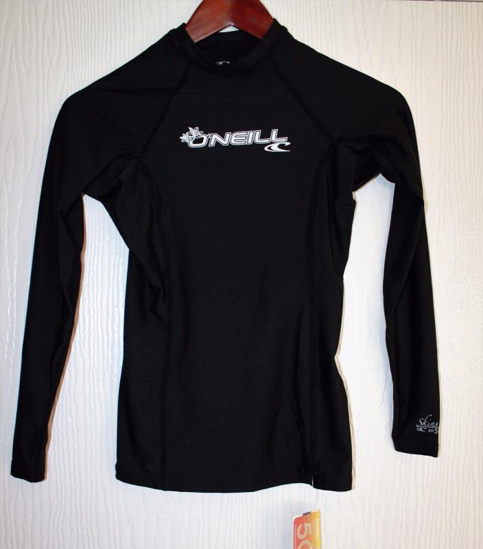 O'Neill Basic Skin Rashguard  Long Sleeve UPF 50 Black Size XS Women's