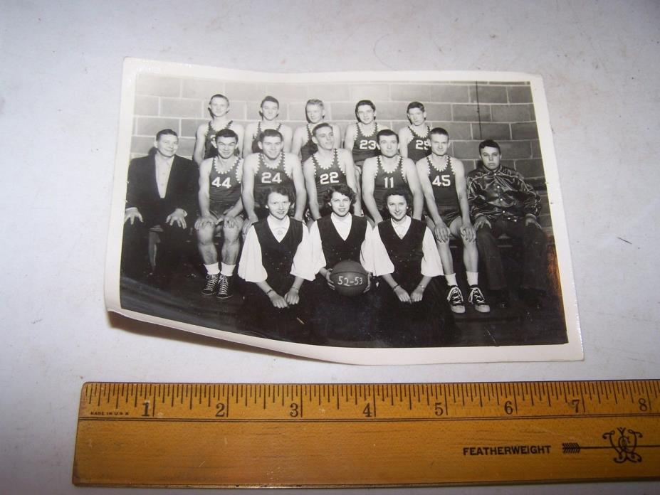 1952-1953 BOWLING GREEN INDIANA High School Basketball Team Photo