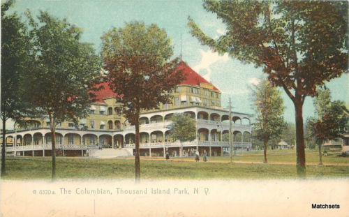 1907 THOUSAND ISLAND Park NEW YORK Columbian Rotograph postcard 9707