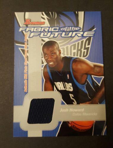 2003-04 Bowman Fabric of the Future JHO Josh Howard Dallas Mavericks Rookie Card