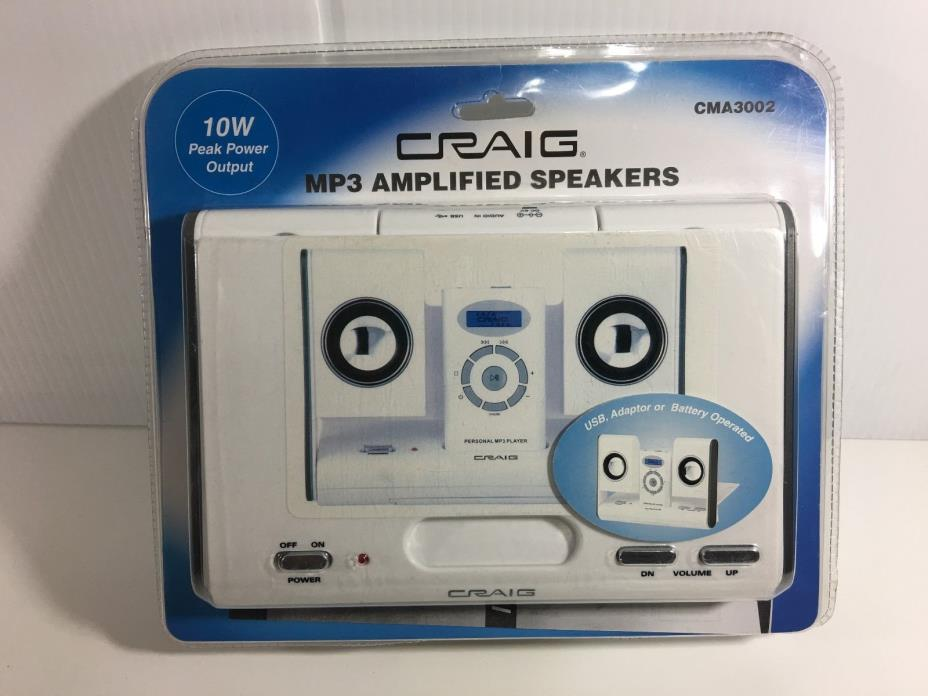 NEW CRAIG MP3 Amplified Speakers 10W Travel Size CMA3002 Y7