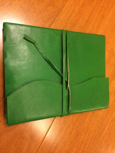 Genuine Leather Writing Journal Travel Journal - Handmade - Coloured Edges