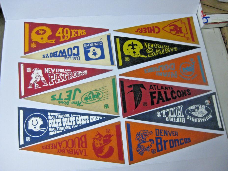 PICK YOUR TEAM - Vintage NFL Mini Pennants - 5 1/8