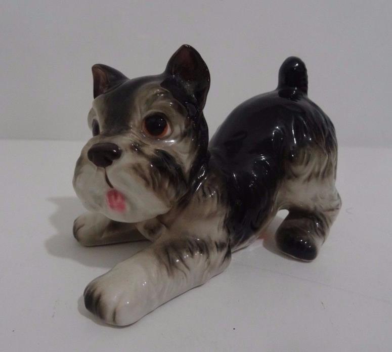 Vintage Lefton Scotty Scottie Dog Playful Puppy Figurine