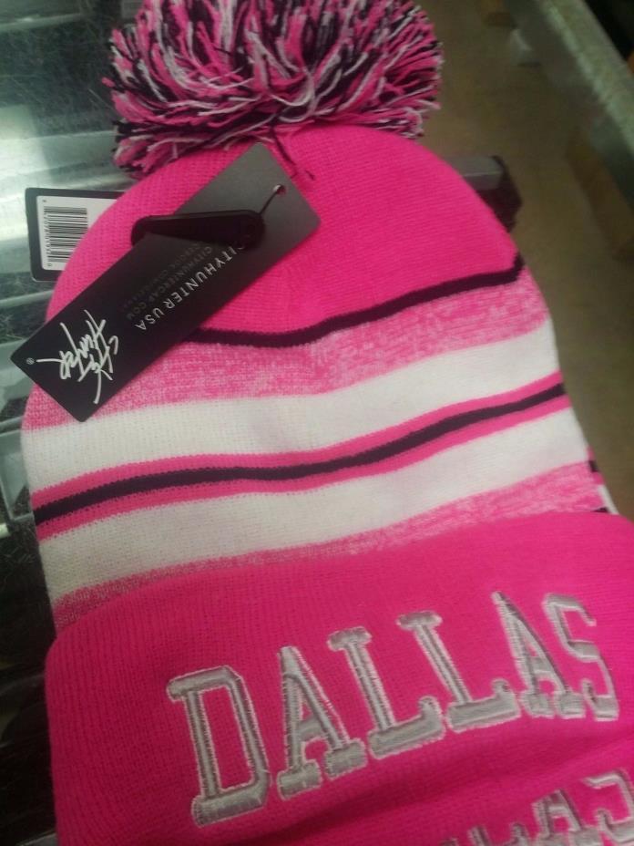 New Nfl Dallas Pink  knit Beanie Cuff Stocking Cap Regular Season Any