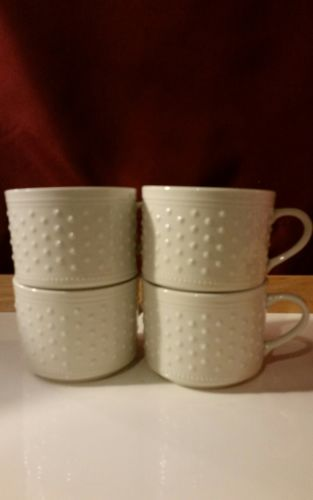 Lot of 4 Casual Settings By Oneida Dotty Tea Cups Coffee Mugs