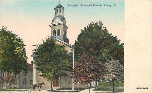 HAND COLORED MUNCY, PA Methodist Episcopal Church Baker 2917 postcard