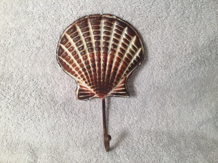Metal Sea Shell Wall/Door Clothes Coat Hat Bag Towel Hanger Hooks Holder