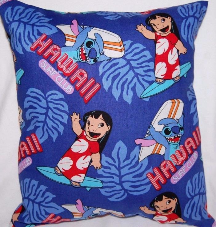 NEW HANDMADE DISNEY LILO AND STITCH  LILO TRAVEL / TODDLER  PILLOW