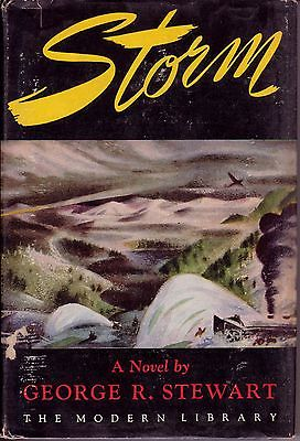 STORM; 1947 hardcover with dust jacket; George R. Stewart; gripping U.S. storm!!