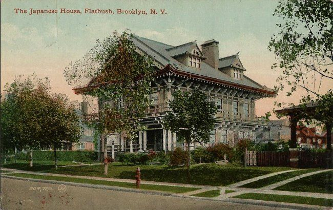 Old Postcard - The Japanese House - Flatbush Brooklyn NY