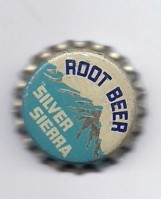 Silver Sierra Root Beer Soda  Cork Lined Bottle Cap