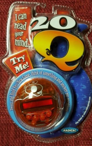 NIP Radica 20 Q Questions Mind Reading Electronic Handheld Guessing Game ORANGE