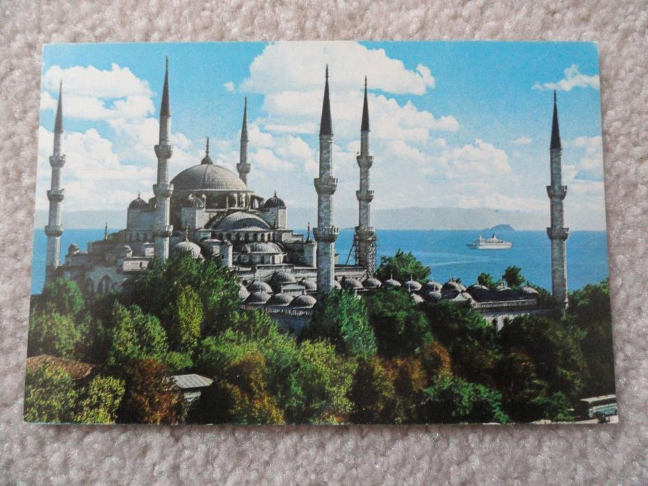 The Blue Mosque, Istanbul     Postcard