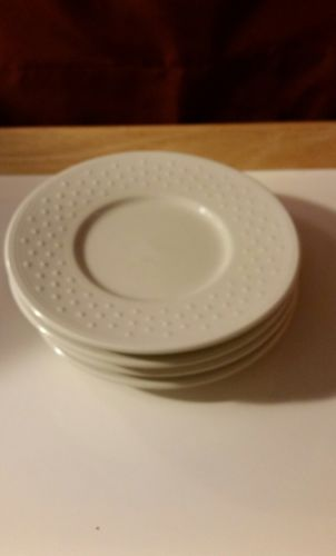 Lot of 4 Casual Settings By Oneida Dotty Saucers