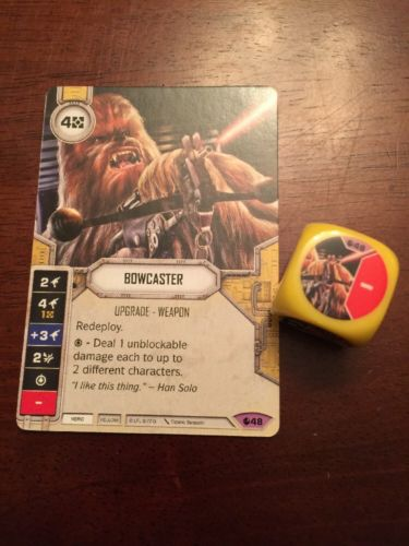 Star Wars Destiny -- Bowcaster -- Legendary #48 -- Spirit of Rebellion