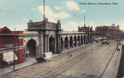 COLUMBUS, Ohio, PU-1913; Union Station, Pella Stacker Co.