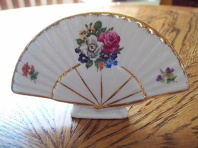 Seve Limoges Fan Floral Decor