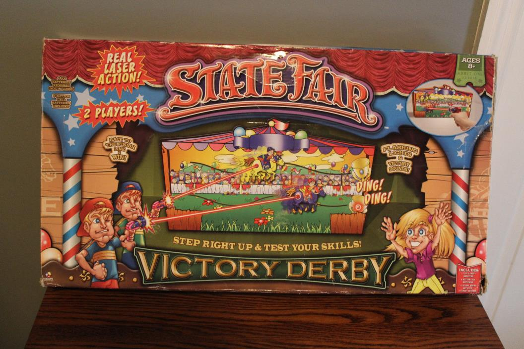MGA STATE FAIR VICTORY DERBY Laser Shooting Game w/Target Sensor Horse Racing!