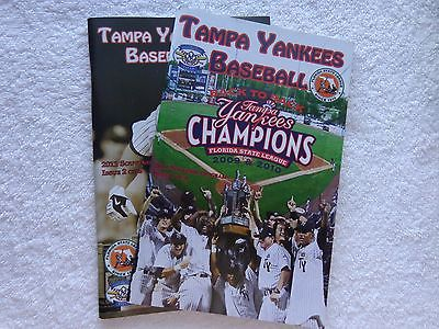 NEW TAMPA YANKEES BASEBALL BACK TO SCHOOL 2009 & 2010 CHAMPIONS ISSUE 1 AND 2
