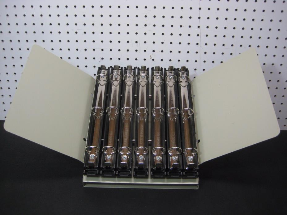 Dublock Catalog Rack System 7 Ring Binder Style w/ Wings Wilson Jones *Read Info