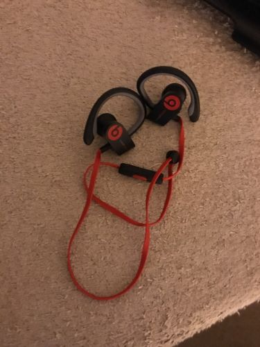 Apple Beats by Dr. Dre Powerbeats 2 Wireless Ear-Hook In Ear Headphones - Red