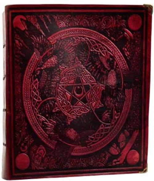 Morrigan Spell Book Red ancient parchment, 8