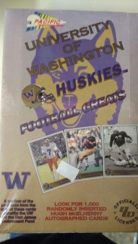 University of Washington Football Greats Collector Cards. NIP