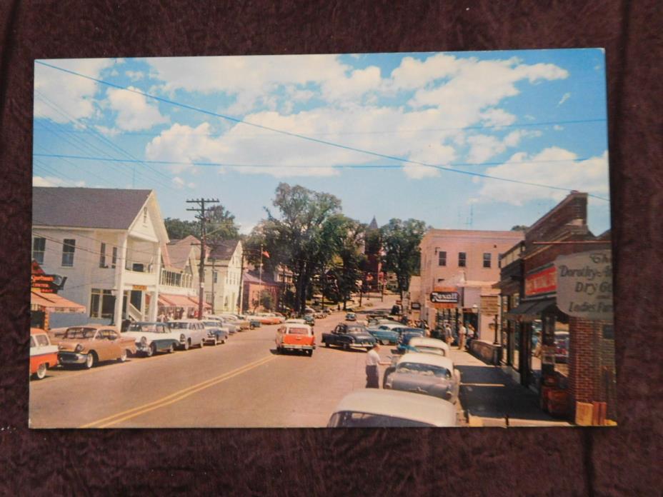 Vintage Postcard: Main Street Wolfeboro NH