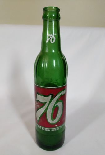 Collectible Drink Ice Cold 76~Get in the Spirit~Green Soda Bottle 10 oz