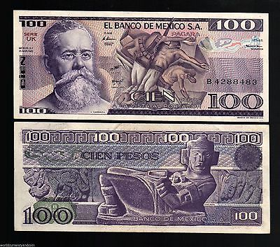 100 PESO MEXICO PAPER MONEY