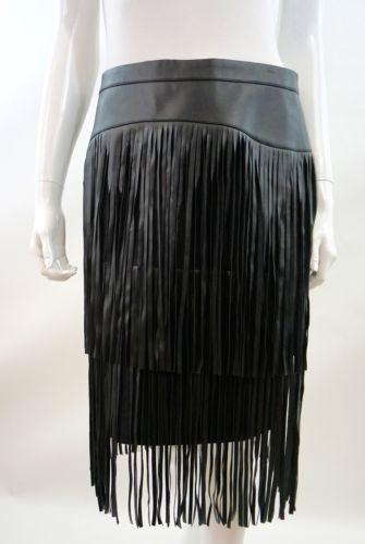 BCBG Mazaria Size 8 Black Fringe Skirt BCBG Mazaria Size 8 Black Fringe Skirt