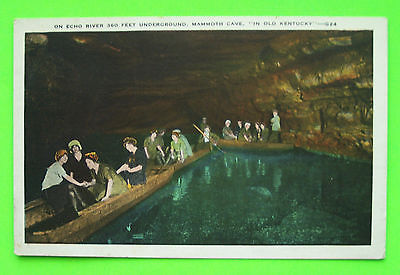 Postcard--On Echo River, Mammoth Cave, Kentucky