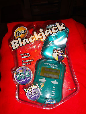 Radica Lighted Fliptop Blackjack new in packaging