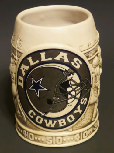 *Rare Vintage* Dallas Cowboy Ceramic Stein Mug *MINT*