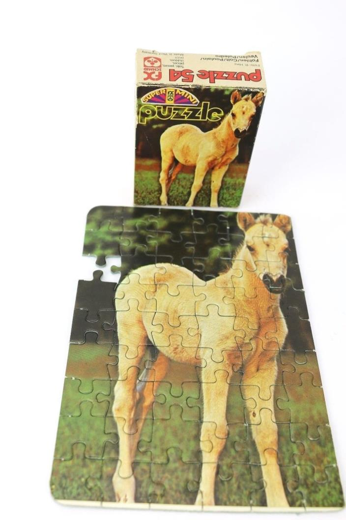 Vtg FX Schmid West Germany Puzzle INCOMPLETE Horse Colt Super Mini Original BOX