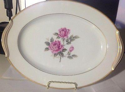 Noritake Lindrose Large Oval Serving Platter #5234