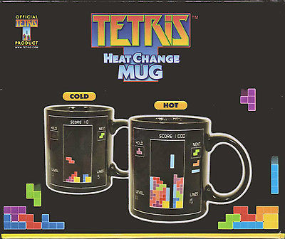 Heat Change Mug Magic Tetris Coffee Mug Video Game Gamer NEW with  BOX