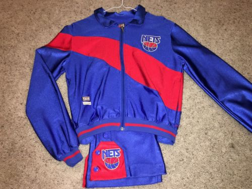 Mint New Jersey Nets Warmup Track Jacket Pants Youth Medium