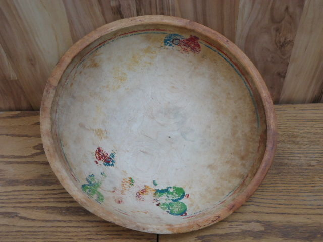 VINTAGE CARVED WOOD BOWL MEXICO OVAL 13' x 12