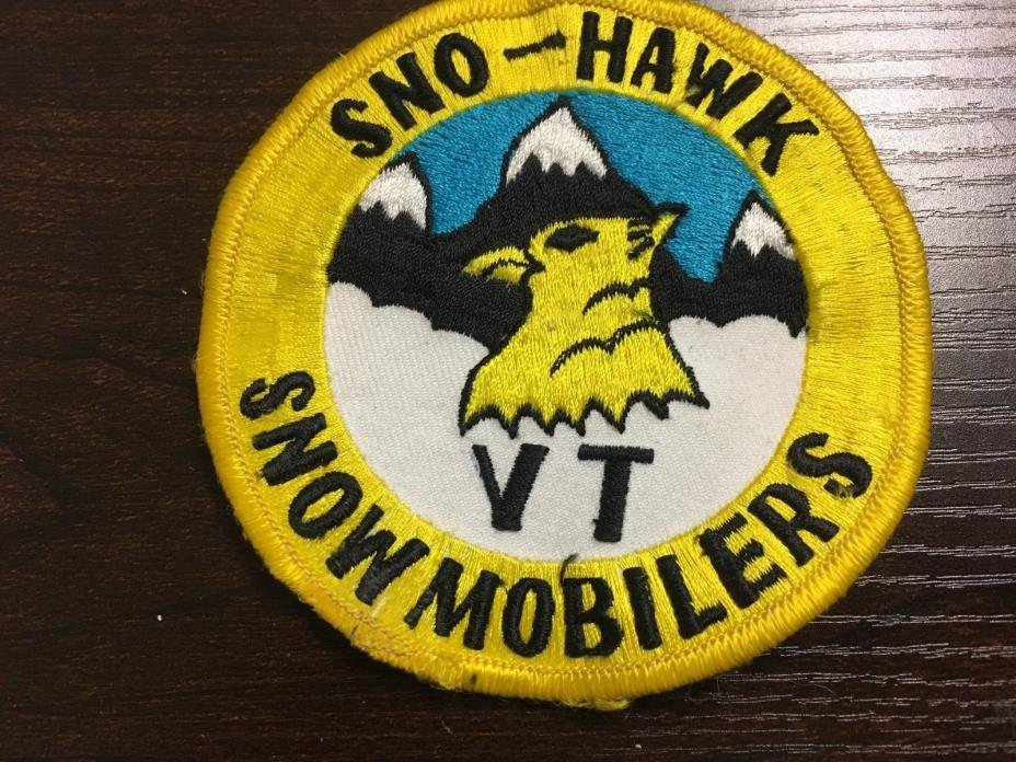 Vintage Snowmobile Jacket Patch Sno-Hawk Snow Mobilers 4