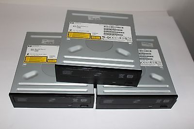 Lot of 3x HP Desktop SATA DVD Lightscribe Writer Burner Drive GH60L 581600-001