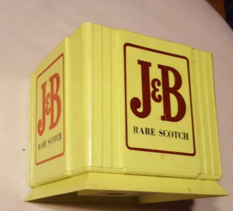 1977 J&B Scotch Whiskey Bar Caddy Napkin Holder Straw Holder w/ Logo