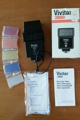 Vivitar 2800 Auto Thyristor Electronic Flash Original Box, possible slight use