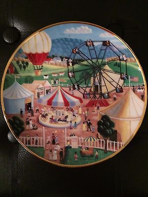 Summer Holiday Collector Edition Plate by American Folk Art In Box