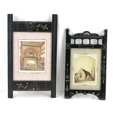 Pair of Victorian Eastlake Frames Aesthetic Movement Madison Square Theatre